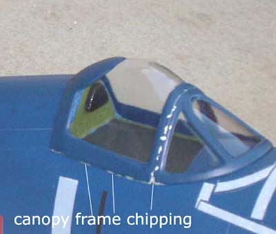 chipping on canopy frame