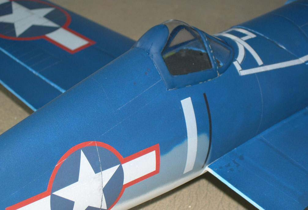 foam scale model Corsair; fiberglassed and airbrushed