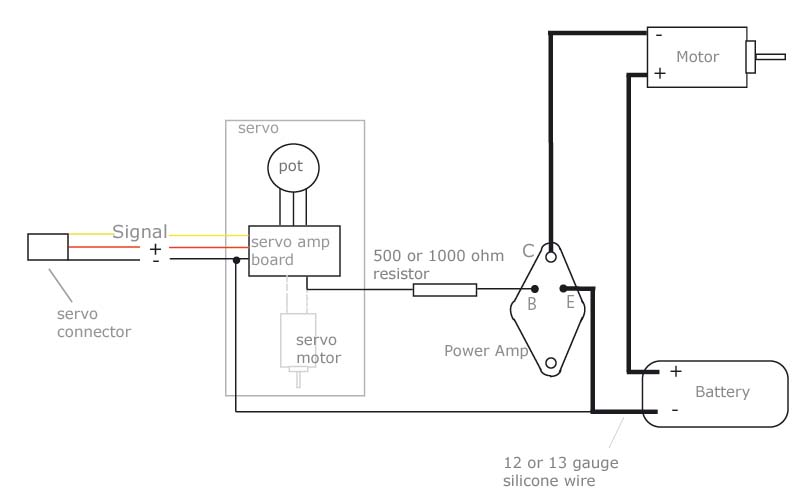 diy electronic speed controller, single power amp
