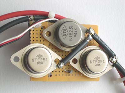 top of electronic speed controller showing power amps