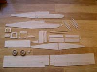 pilatus porter parts cut out and ready for glue