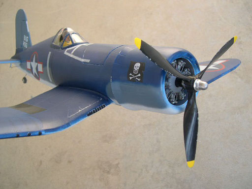 gws corsair dummy engine and weathering