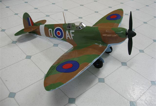 painted and complete spitfire electric conversion